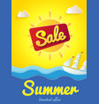 yellow poster summer sale limited offer banner vector image vector image