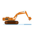 construction machinery industrial excavator vector image