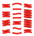 red ribbon flat banners set premium decorative vector image