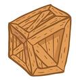 wooden box vector image