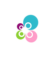 beauty round colorful bubble logo vector image
