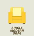 Single Modern Sofa Flat Design vector image