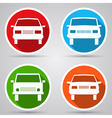 Cars flat icons vector image