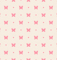 Retro seamless pattern Pink butterflies and dots vector image