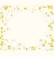 abstract background with many falling golden tiny vector image vector image