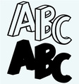 Alphabet with ABC vector image