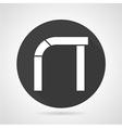 Asymmetric arch black round icon vector image