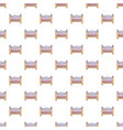 baby bed pattern seamless vector image vector image