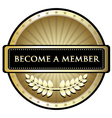Become A Member vector image vector image