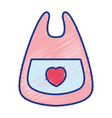 bib baby tool that used to eat vector image vector image