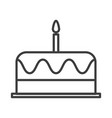 birthday cake simple food icon in trendy style vector image
