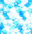 blue crystals seamless pattern vector image