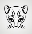 Cat Tattoo Design vector image vector image