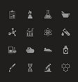 chemical - flat icons vector image