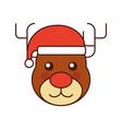 christmas reindeer animal horned funny vector image vector image