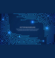 circuit board digital technology blue background vector image