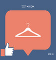 clothes hanger icon vector image vector image