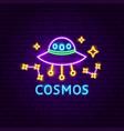 cosmos neon label vector image