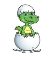Cute dinosaur or dragon in an egg shell vector image vector image