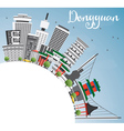 Dongguan Skyline with Gray Buildings vector image vector image