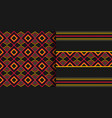 ethnic seamless pattern cloth kente tribal print vector image vector image