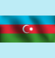 flag of azerbaijan - vector image