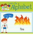 Flashcard letter F is for fire vector image vector image