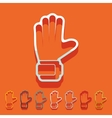Flat design gloves vector image