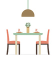 Flat Design Interior Dining Room vector image vector image