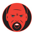 flat icon of an angry man vector image