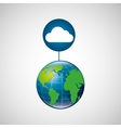 Globe world cloud connection service