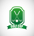 golf cup design vector image vector image