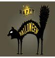 halloween cat dark vector image vector image
