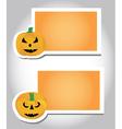 Halloween pumpkin card template vector image