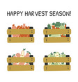 hand drawn card with fruits and vegetables vector image vector image