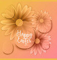 happy easter background with decorative eggs vector image vector image