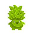 happy smiling succulent emoji cartoon emotions vector image vector image