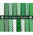 happy st patricks day set sixteen seamless vector image
