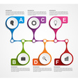 Infographics design template Timeline concept vector image
