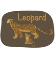 leopard whit child vector image