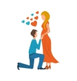 Meeting love couple Valentine Day postcard vector image