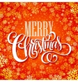 Merry christmas handwritten text on background vector image vector image