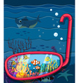 Ocean scene with sea animals vector image
