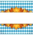 Oktoberfest design autumn vector image vector image