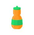 orange plastic reusable water bottle drink bottle vector image