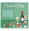 party celebration drinks and snacks menu layout vector image vector image