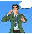 Pop Art Businessman Talking on the Phone vector image vector image