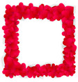 red hearts square frame isolated on white vector image