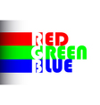 RGB label of colors vector image vector image