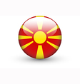 Round icon with national flag of Macedonia vector image vector image